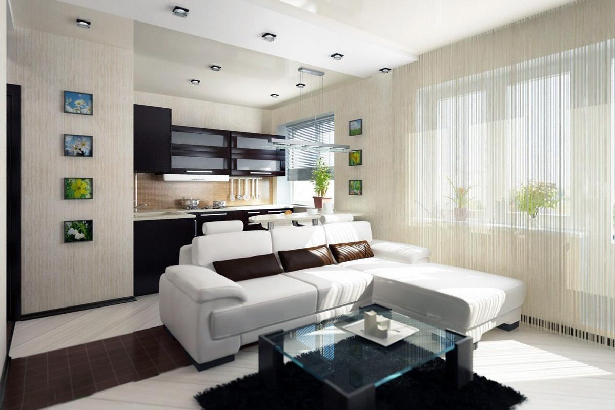 Оформление однокомнатной квартиры в картинках